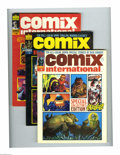 Magazines:Horror, Comix International Group (Warren, 1974-76) Condition: Average VF. Issues #1 (low distribution, sold mostly through mail ord... (Total: 3 Comic Books Item)