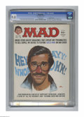 """Magazines:Mad, Mad #187 Gaines File Copy (EC, 1976) CGC VF/NM 9.0 Off-white pages.""""Happy Days"""" and """"All The President's Men"""" parodies. Jac..."""