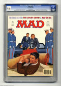 """Magazines:Mad, Mad #255 (EC, 1985) CGC NM+ 9.6 Off-white pages. Richard Williamscover (featuring Ronald Reagan). """"Cosby Show"""" and """"All of ..."""