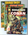Bronze Age (1970-1979):Miscellaneous, Savage Tales Group (Marvel, 1974-75) Condition: Average VF. Thisgroup consists of eight magazines #4, 5 (two copies), 8, 9,...(Total: 8 Comic Books Item)