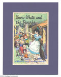 Original Comic Art:Covers, Lilian Buchanan - Snow White and the Dwarfs Cover Original Art(Blackie & Son, 1967). With a graceful hand high in the air,...