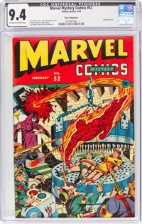 Marvel Mystery Comics #52 San Francisco Pedigree (Timely, 1944) CGC NM 9.4 Off-white to white pages