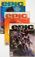 Magazines:Science-Fiction, Epic Illustrated Box Lot (Marvel, 1980s) Condition: Average VF....