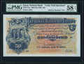 Egypt National Bank of Egypt 50 Pounds 25.6.1898 Pick 5cts Color Trial Specimen PMG Choice About Unc 58 EPQ.</