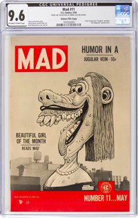 MAD #11 Gaines File Pedigree (EC, 1954) CGC NM+ 9.6 Off-white to white pages