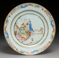 Ceramics & Porcelain, A Chinese Export Enameled and Partial Gilt Porcelain Dish, . Qing Dynasty, 18th century. 9 inches (22.9 cm). ...