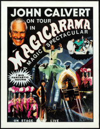 "John Calvert in Magicarama (c.1980s). Rolled, Very Fine/Near Mint. Autographed Magic Poster (17"" X 22""). Misce..."