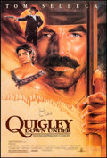 "Movie Posters:Western, Quigley Down Under & Other Lot (MGM, 1990). Rolled, Very Fine-. Autographed One Sheet (27"" X 40"") SS & Insert (14"" X 36"") St... (Total: 2 Items)"