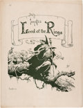 Memorabilia:Comic-Related, Frank Frazetta Lord of the Rings Signed Limited Edition Portfolio #13/1000 (Middle Earth, 1975)....