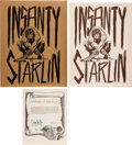 Memorabilia:Comic-Related, Jim Starlin Insanity Limited Signed and Numbered Portfolio #13/1000 (Middle Earth, 1974). ...