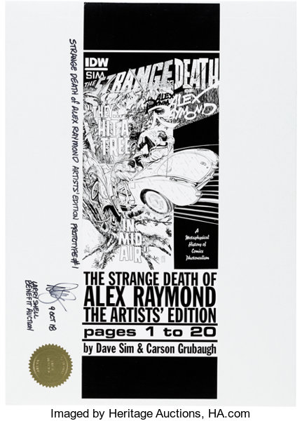 Memorabilia:Comic-Related, Dave Sim The Strange Death of Alex Raymond
