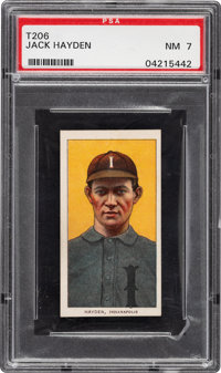 1909-11 T206 Sweet Caporal 350/30 Jack Hayden PSA NM 7 - Pop Two, One Higher for Brand