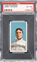 Baseball Cards:Singles (Pre-1930), 1909-11 T206 Sovereign 350 Jimmy Jackson PSA EX-MT 6 - Pop One, None Higher for Brand. ...