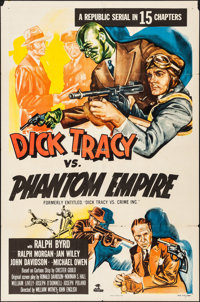 "Dick Tracy vs. Crime Inc. (Republic, R-1952). Folded, Fine+. One Sheet (27"" X 41"") Reissue Title: Dick Tracy v..."