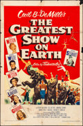 """Movie Posters:Drama, The Greatest Show on Earth (Paramount, 1952). Folded, Fine. One Sheet (27"""" X 41""""). Drama. From the personal collection of ..."""