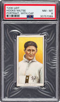 Baseball Cards:Singles (Pre-1930), 1909-11 T206 Uzit Hook Wiltse (Portrait, With Cap) PSA NM-MT 8 - Pop One, None Higher for Brand! ...