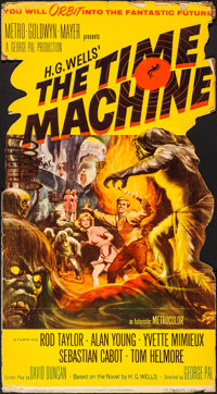 "The Time Machine (MGM, 1960). Folded, Fine/Very Fine. Die Cut Standee (32.5"" X 59""). Reynold Brown Artwork. Sc..."
