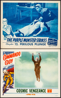 "Commando Cody & Other Lot (Republic, 1953). Very Fine-. Lobby Cards (2) (11"" X 14""). Chapter 3 -- &quo..."