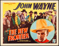 """Movie Posters:Western, The New Frontier (Republic, 1935). Very Fine-. Title Lobby Card (11"""" X 14""""). Western.. ..."""