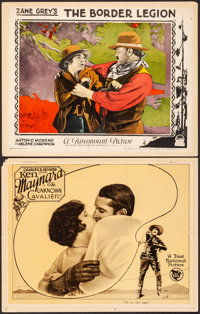 """The Unknown Cavalier & Other Lot (First National, 1926). Fine/Very Fine. Lobby Cards (2) (11"""" X 14"""")..."""