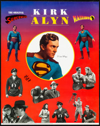 """Superman/Blackhawk (Sharpco, 1997). Rolled, Very Fine. Autographed and Hand Numbered Limited Edition Poster (16"""" X..."""