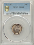 Seated Dimes, 1877-CC 10C MS64 PCGS. PCGS Population: (105/103 and 6/10+). NGC Census: (77/129 and 1/2+). CDN: $1,000 Whsle. Bid for prob...