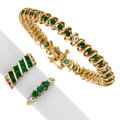 Estate Jewelry:Lots, Emerald, Diamond, Gold Jewelry. ... (Total: 3 Items)