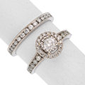 Estate Jewelry:Rings, Diamond, White Gold Ring Set The ring features...