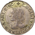 Colonials, (1659) 6PENCE Maryland Lord Baltimore Sixpence, Large Bust, Hodder 1-B, W-1040, Unique -- Cancellation Marks -- NGC Details. ...