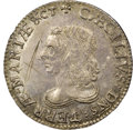 Colonials, (1659) SHILNG Maryland Lord Baltimore Shilling, Small Bust, Hodder 2-B, W-1090, R.8 -- Cancellation Marks -- NGC Details...