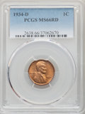 1934-D 1C MS66 Red PCGS. PCGS Population: (545/46). NGC Census: (254/25). CDN: $150 Whsle. Bid for problem-free NGC/PCGS...