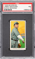 Baseball Cards:Singles (Pre-1930), 1909-11 T206 Sovereign 460 Jimmy Sheckard (Glove Showing) PSA NM 7 - Pop Two, None Higher for Brand. ...