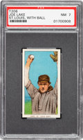 Baseball Cards:Singles (Pre-1930), 1909-11 T206 Sovereign 460 Joe Lake (St. Louis-With Ball) PSA NM 7 - Pop One, None Higher for Brand! ...
