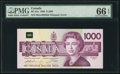 Canadian Currency, Canada Bank of Canada $1000 1988 (ND 1992) BC-61a