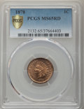 Indian Cents, 1878 1C MS65 Red PCGS. PCGS Population: (60/16 and 1/2+). NGC Census: (11/6 and 0/0+). CDN: $2,100 Whsle. Bid for problem-f...