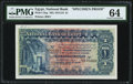 World Currency, Egypt National Bank of Egypt 1 Pound 22.9.1914 Pick 12sp Specimen Proof PMG Choice Uncirculated 64.. ...