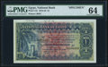 World Currency, Egypt National Bank of Egypt 1 Pound 20.7.1916 Pick 12s Specimen PMG Choice Uncirculated 64.. ...