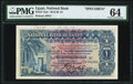 World Currency, Egypt National Bank of Egypt 1 Pound 20.11.1918 Pick 12as Specimen PMG Choice Uncirculated 64.. ...