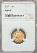 Indian Quarter Eagles, 1914 $2 1/2 MS63 NGC....