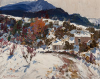 Fremont F. Ellis (American, 1897-1985) Placitas Oil on canvas 12 x 16 inches (30.5 x 40.6 cm)
