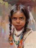 Works on Paper, Harley Brown (American, b. 1939). Child of the Plains, 1990. Pastel on paper. 11-3/4 x 8-3/4 inches (29.8 x 22.2 cm) (si...