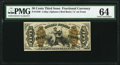 Fractional Currency:Third Issue, Fr. 1346 50¢ Third Issue Justice PMG Choice Uncirculated 64.. ...