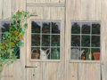 Paintings, Gladys Nelson Smith (American, 1890-1980). The Hop Vine (Potting Shed at Mill Stones), 1978. Oil on canvas. 12 x 16 inch...