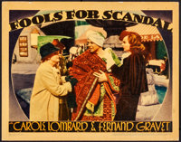 """Fools for Scandal (Warner Brothers, 1938). Very Fine-. Linen Finish Lobby Card (11"""" X 14""""). Comedy"""