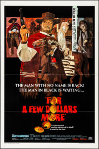 "For a Few Dollars More (United Artists, 1967). Folded, Very Fine. One Sheet (27"" X 41""). David Blossom Artwork..."