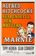 """Movie Posters:Hitchcock, Marnie (Universal, 1964). Folded, Very Fine+. One Sheet (27"""" X 41""""). Hitchcock.. ..."""