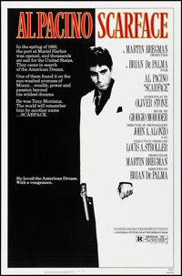 "Scarface (Universal, 1983). Rolled, Very Fine+. One Sheet (27"" X 41""). Mike Bryan Artwork. Crime"