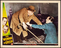 "The Woman in Green (Universal, 1945). Very Fine-. Lobby Card (11"" X 14""). Mystery"