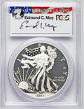 Modern Bullion Coins, 2013-W $1 Enhanced Mint State Silver Eagle, West Point Mint Set, Moy Signature, First Strike, PR69 PCGS. This lot will als... (Total: 2 coins)