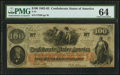 T41 $100 1862 PF-17 Cr. 318 PMG Choice Uncirculated 64